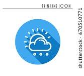 sun  cloud  rain line simple... | Shutterstock .eps vector #670510771