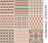 collection of seamless argyle... | Shutterstock .eps vector #67051135