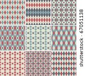 collection of seamless argyle... | Shutterstock .eps vector #67051138