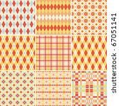collection of seamless plaid... | Shutterstock .eps vector #67051141