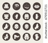 plastic surgery icon set | Shutterstock .eps vector #670512721