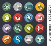 physics icons | Shutterstock .eps vector #670512724