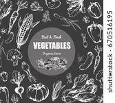 best and fresh vegetables grown ... | Shutterstock .eps vector #670516195