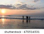 silhouette of asian children in ...   Shutterstock . vector #670516531