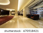 luxury lobby interior. | Shutterstock . vector #670518421