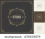ornament logo design template... | Shutterstock .eps vector #670525075