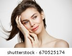beautiful naked young girl with ... | Shutterstock . vector #670525174