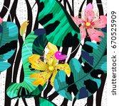 summer seamless pattern  ... | Shutterstock .eps vector #670525909