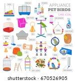 pet appliance icon set flat... | Shutterstock .eps vector #670526905
