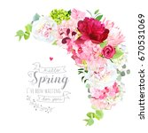 blooming spring bouquet floral... | Shutterstock .eps vector #670531069