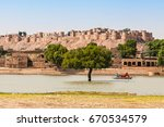 fort in jaisalmer  india.... | Shutterstock . vector #670534579