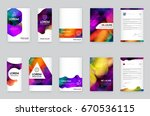 big set of visual identity with ... | Shutterstock .eps vector #670536115
