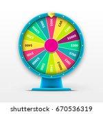 vector 3d spinning fortune... | Shutterstock .eps vector #670536319