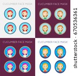 vector face cleaning and care... | Shutterstock .eps vector #670536361