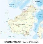 vector road map of island... | Shutterstock .eps vector #670548361
