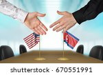 united states and north korea... | Shutterstock . vector #670551991
