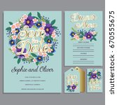 wedding invitation card suite... | Shutterstock .eps vector #670555675
