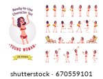 ready to use character set.... | Shutterstock .eps vector #670559101
