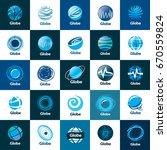vector logo globe | Shutterstock .eps vector #670559824