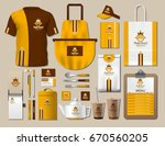 business fastfood corporate... | Shutterstock .eps vector #670560205