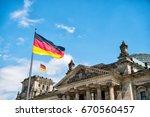 German Flags Waving In The Wind ...