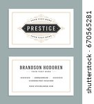 business card vintage ornament... | Shutterstock .eps vector #670565281