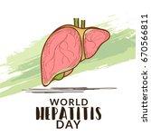 illustration of world hepatitis ...   Shutterstock .eps vector #670566811