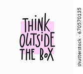 think outside the box quote... | Shutterstock .eps vector #670570135