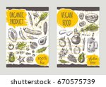 vegan food brochure flyer... | Shutterstock .eps vector #670575739
