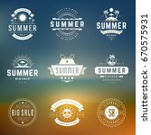 summer season sale badges and... | Shutterstock .eps vector #670575931
