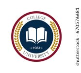 university education logo design | Shutterstock .eps vector #670576681