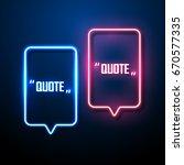 neon sign speech bubble vector