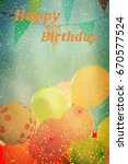 many colorful baloons in the... | Shutterstock . vector #670577524