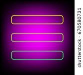 hamburger menu bar line art... | Shutterstock .eps vector #670580731