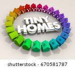 tiny homes houses small... | Shutterstock . vector #670581787
