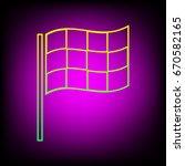 racing flag icon. vector....   Shutterstock .eps vector #670582165