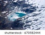 glacier lake  new zealand | Shutterstock . vector #670582444