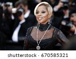 cannes  france   may 21  mary j.... | Shutterstock . vector #670585321