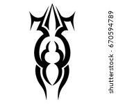 tribal tattoo art designs.... | Shutterstock .eps vector #670594789