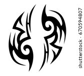 tattoo tribal vector design.... | Shutterstock .eps vector #670594807