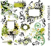 floral design elements | Shutterstock .eps vector #67060114