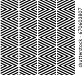 black chevron lines on white... | Shutterstock .eps vector #670603807
