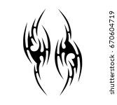 tribal tattoo art designs.... | Shutterstock .eps vector #670604719