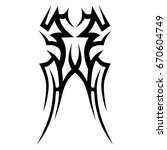 tribal tattoo art designs.... | Shutterstock .eps vector #670604749