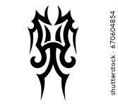 tattoo tribal vector design....   Shutterstock .eps vector #670604854