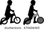 kid riding pushbike silhouette  ... | Shutterstock .eps vector #670606465