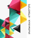 triangular low poly a4 size... | Shutterstock . vector #670607191