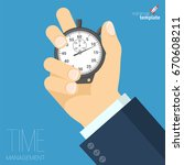 flat design time management... | Shutterstock .eps vector #670608211