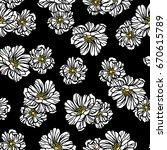 flower illustration pattern | Shutterstock .eps vector #670615789