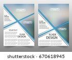 business flyer design layout ... | Shutterstock .eps vector #670618945